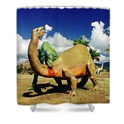 Dinosaur Violence Shower Curtain