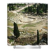 Dionysus Amphitheater Shower Curtain