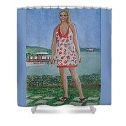 Diosa Del Mar Shower Curtain