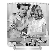 Dipping Easter Eggs Shower Curtain