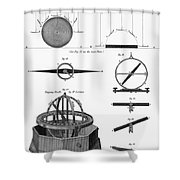 Dipping Needle Compass Shower Curtain