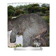 Diprotodon Shower Curtain