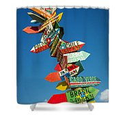 Directions Signs Shower Curtain