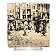 Directoire Gown - Philadelphia Mummers 1909 Shower Curtain