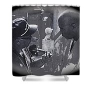 Director Martin Ritt And James Earl Jones Number 2 The Great White Hope Set Globe Arizona 1969-2013 Shower Curtain