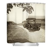 Dirt Drive Shower Curtain