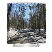 Dirt Road In March Shower Curtain