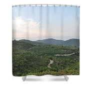 Dirt Roads 3 Shower Curtain
