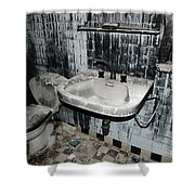 Dirty Bathroom Shower Curtain