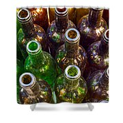 Dirty Bottles Shower Curtain by Carlos Caetano
