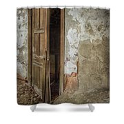 Dirty Door Shower Curtain