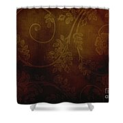 Dirty Flowers Backdrop Shower Curtain