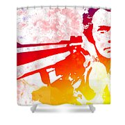 Dirty Harry Shower Curtain