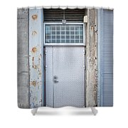 Dirty Metal Door Shower Curtain
