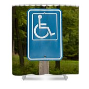 Disabled Parking Sign Shower Curtain