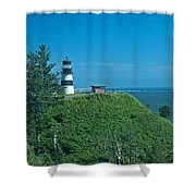 Disappointment Lighthouse In Washington State Shower Curtain