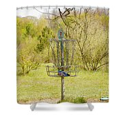 Disc Golf Basket 7 Shower Curtain