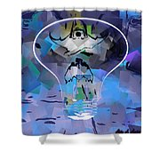 Discharged Shower Curtain