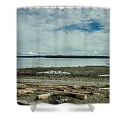 Low Tide Along The Discovery Passage Shower Curtain