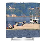 Discovery Bay Military Ops Ship Shower Curtain