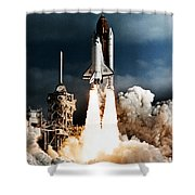 Discovery Hubble Launch Sts-31 Shower Curtain