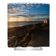 Discovery Park Lighthouse Sunset Shower Curtain