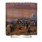 Disembarkation - Kerch, 24 May 1855 Shower Curtain