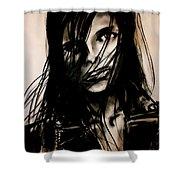 Disheveled Shower Curtain