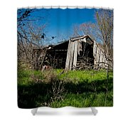 Disintegrating Barn Streetman Texas Shower Curtain