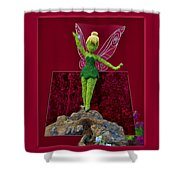 Disney Floral Tinker Bell 01 Shower Curtain