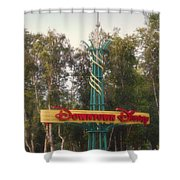 Disneyland Downtown Disney Signage 01 Shower Curtain