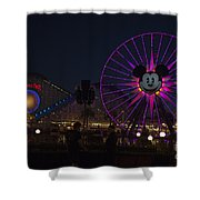 Disneyland Ferris Wheel At Dark Shower Curtain