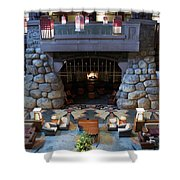 Disneyland Grand Californian Hotel Fireplace 01 Shower Curtain