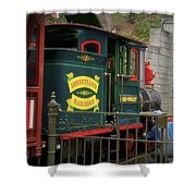 Disneyland Rr Oiling Green Engine 3 Shower Curtain