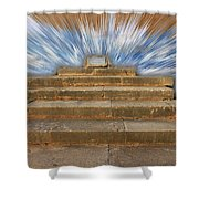 Display Hall At Temple Of Apollo Hylates Shower Curtain