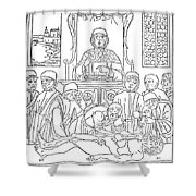 Dissection Lesson, 1493 Shower Curtain