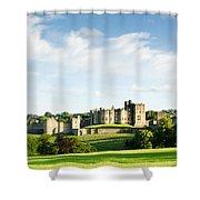 Distant Alnwick Castle Shower Curtain
