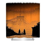 Distant Bridge Shower Curtain