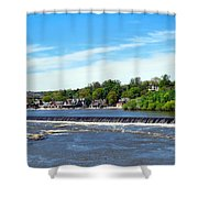 Distant Falls Shower Curtain