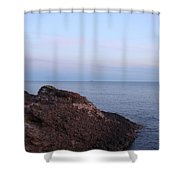 Distant Freighter Shower Curtain