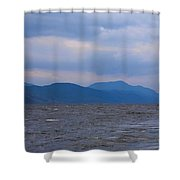 Distant Hills At Loch Ness Shower Curtain