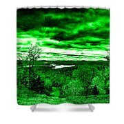 Distant Lakes Shower Curtain