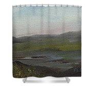 Distant Mist Shower Curtain