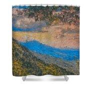Distant Mountains - Digital Impression Paint Shower Curtain