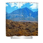 Distant Peaks Shower Curtain