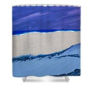 Distant Sailboat Shower Curtain by Melissa Dawn