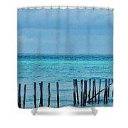 Distant Shore Shower Curtain
