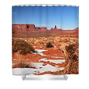 Distant Towers Shower Curtain
