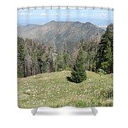 Distant View - Mount Lemmon Shower Curtain