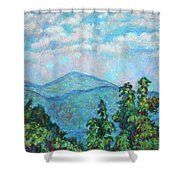 Distant View Of Peaks Of Otter Shower Curtain